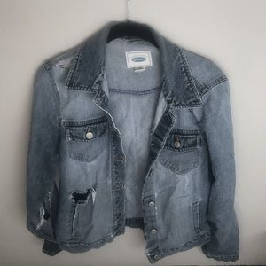 Distressed denim jacket!
